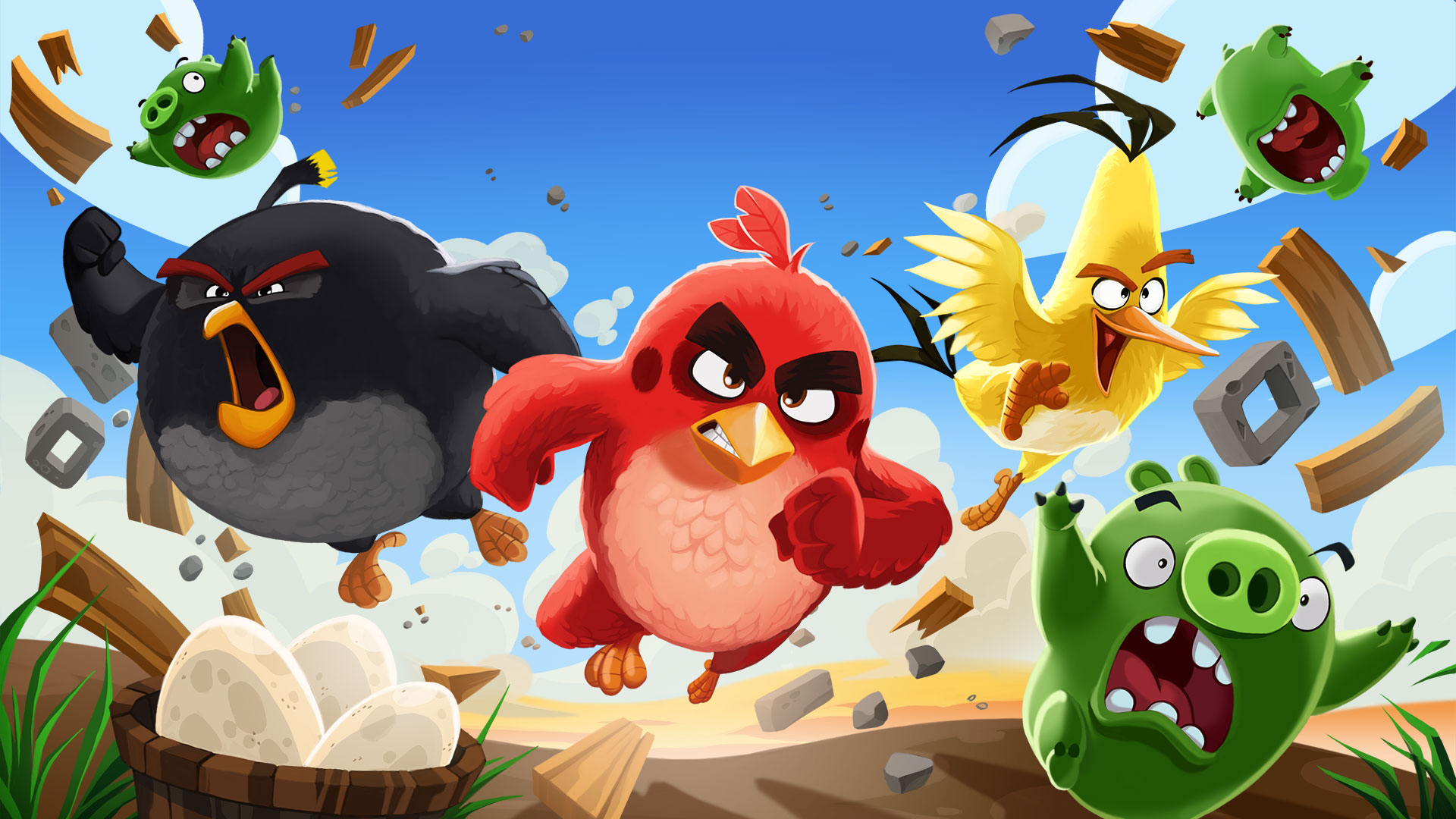 Angry Birds : Isle of Pigs AR - Critique et gameplay