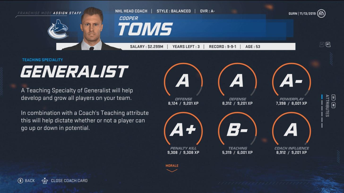 NHL 20 : des nouveautés pour le mode Franchise
