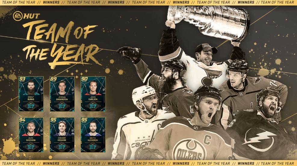 NHL 20: La Team of the Year enfin dévoilée